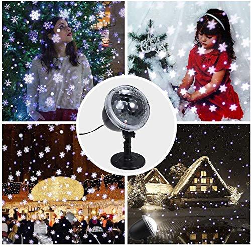Mmhot-tyd Boda LED Proyector De Luz De Nieve del Copo De Nieve De ...