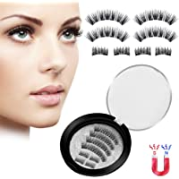 Magnetic Eyelashes Natural Look 8 PCS 3D Falses Eyelashes Handmade lashes Set Ultra Thin and Reusable & Easy to Wear
