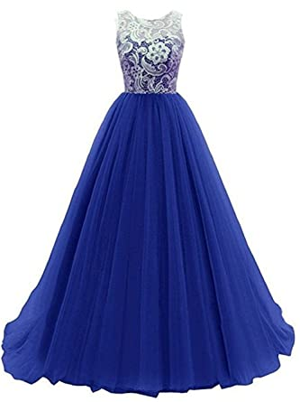 Kids Big Girls Bridesmaid Tulle Lace Dress Elegant A Line Communion Ball Gown Dance Pageant Birthday