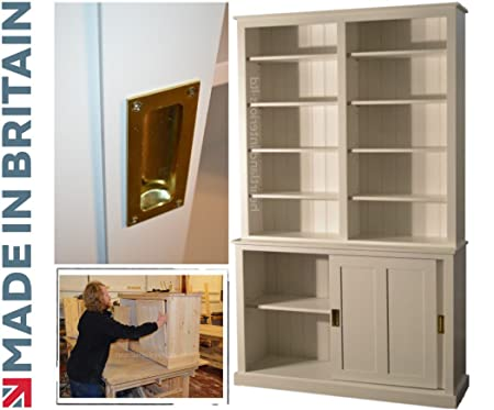 Heartland Pine Libreria in legno dipinto di bianco, 220 cm ...