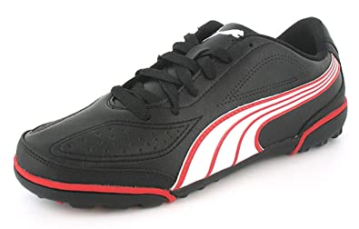0112841b89d1 Mens Gents Black Puma Trainers With Rubber Soles And Flat Heels. - Black