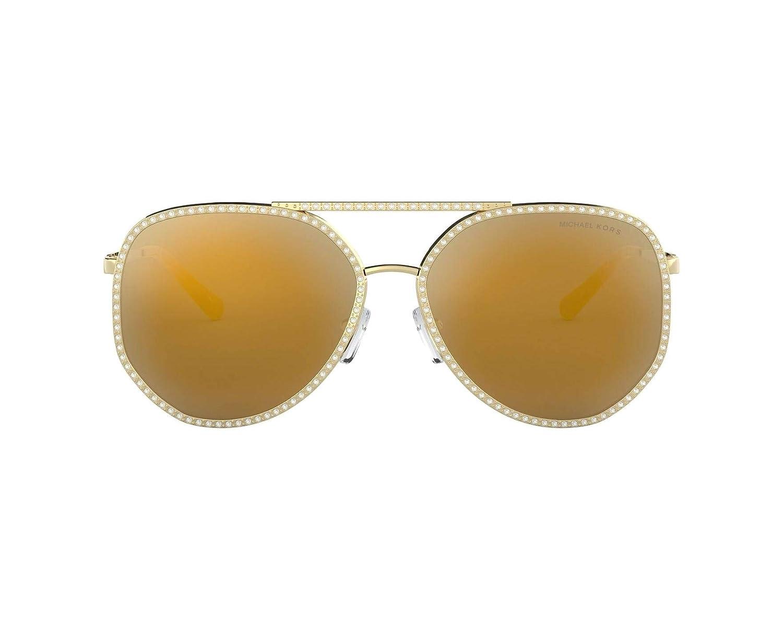 c5e2480ab Michael Kors MIAMI MK1039B Sunglasses 10147P-58 - Shiny Pale Gold Frame,  Liquid MK1039B-10147P-58 at Amazon Men's Clothing store: