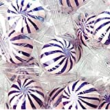 Grape Sassy Spheres Purple & White Striped Candy Balls 1LB Bag