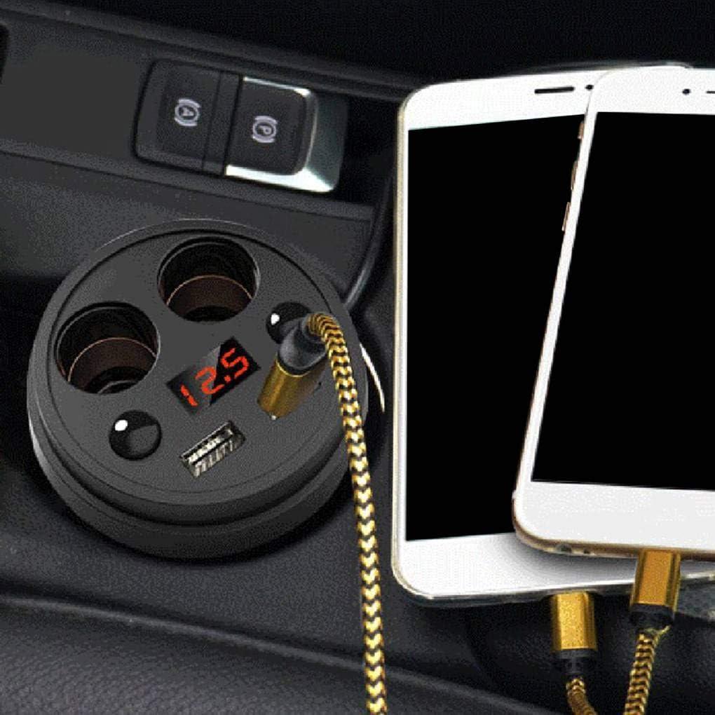 F-blue Pantalla LED Cargador de Coche de Doble USB Tipo de Puerto de la Copa de mechero Tel/éfono USB Cargador 120W