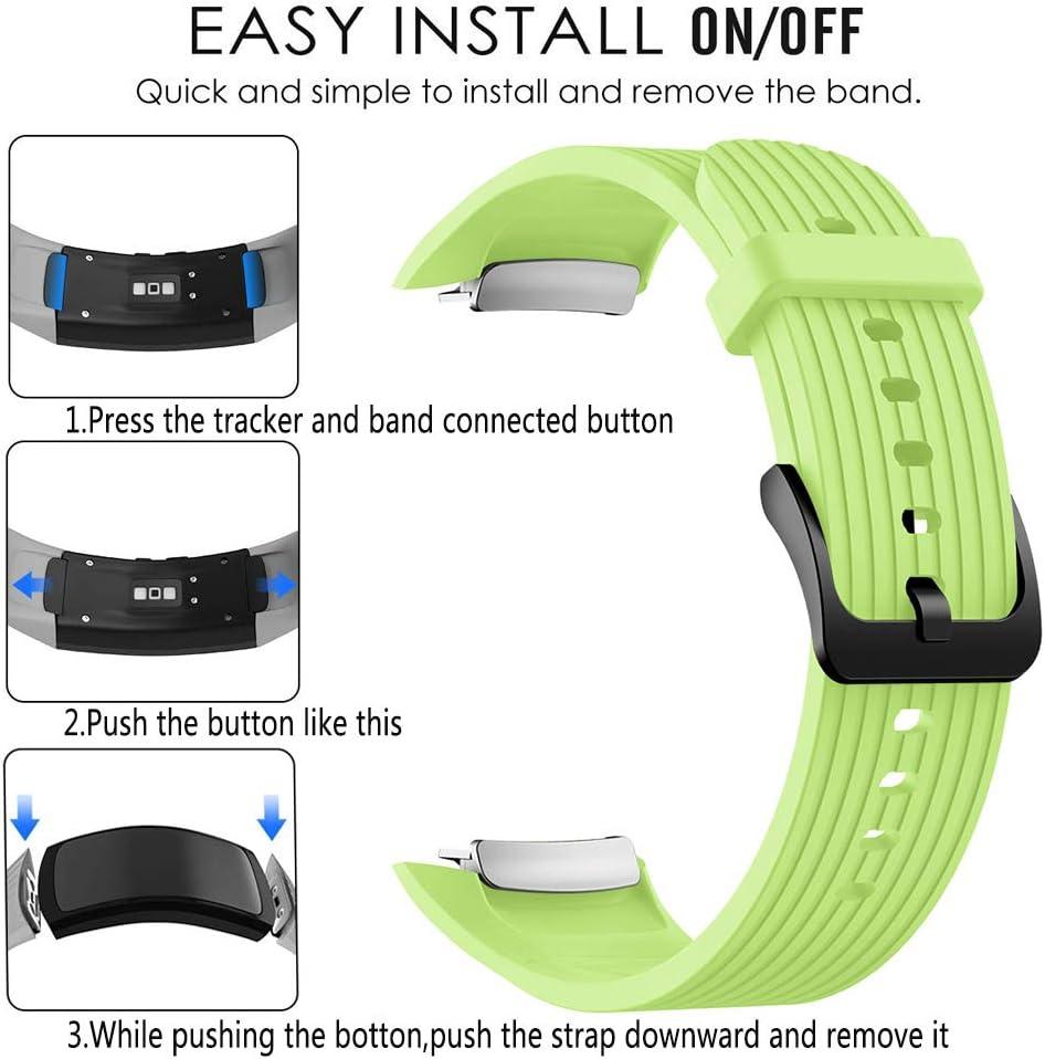 YaYuu Kompatibel Gear Fit 2 Pro//Fit 2 Armband Silikon Sports Ersatz Uhrenarmband