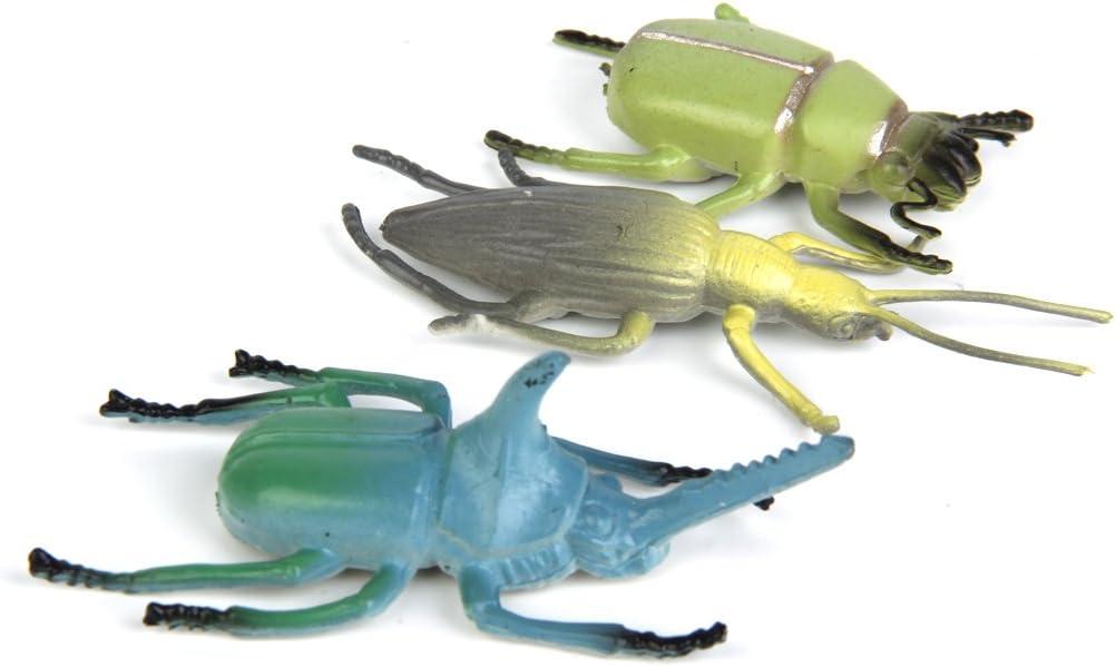 12 Piezas Juegos de Imitaci/ón Modelo de Insectos Escarabajos Pl/ásticos