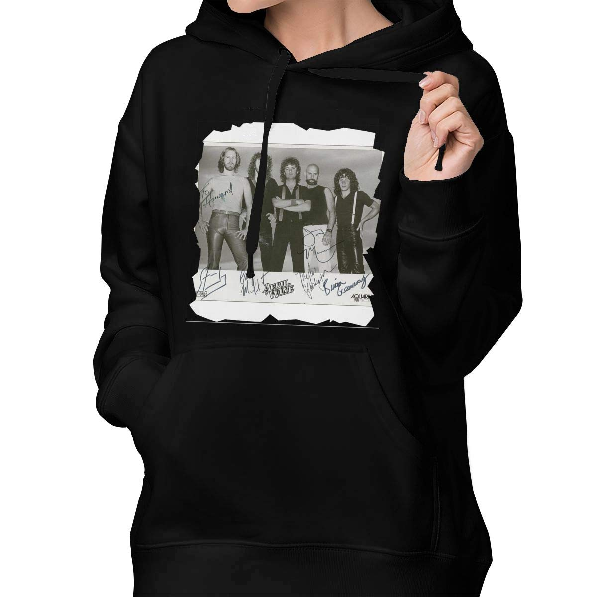 YoungerMan Womens Color Name Sweatshirt Hoodie Comfortable April Wine Fashion Cotton Pullover Hooded Shirts with Pocket M