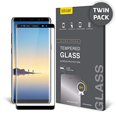 426b6a38f75 Olixar Samsung Note 8 Screen Protector - Full Cover Edge to Edge - Tempered  Glass