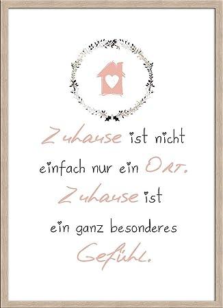 Artissimo, Spruch Bild Gerahmt, 51x71cm, PE6187 ER, Zuhause Ist.