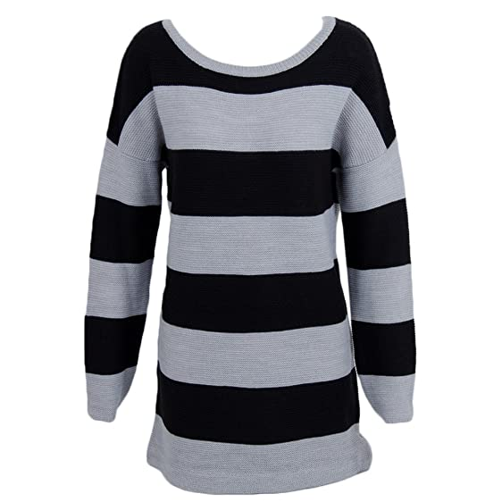 Olive And Oak Striped Grey XS Womens Sweater at Amazon Women's ...