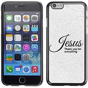 Paccase / Dura PC Caso Funda Carcasa de Protección para - BIBLE Jesus - Thank You For Everything - Apple Iphone 6 Plus 5.5