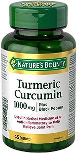 Nature's Bounty Turmeric Plus Black Pepper, 45 Count