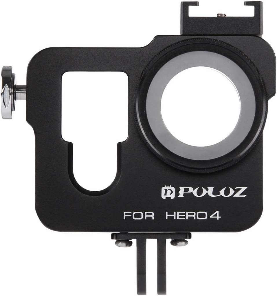 Color : Black ZMKK Housing Shell CNC Aluminum Alloy Protective Cage with 37mm UV Lens Filter /& Lens Cap