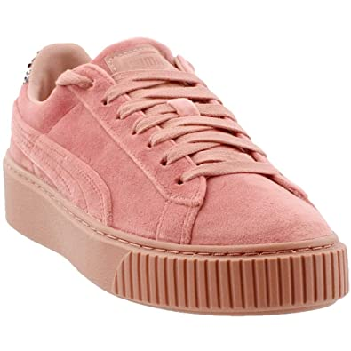 wholesale sales shopping clearance sale PUMA Womens Platform Velvet Crushed Gem Casual Sneakers,