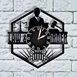 Lawyer Gift for Women, Attorney Gift Vinyl Wall Clock, Law School Gift, Law Student Gift Lawyer Art, Gavel Gifts, Law Office Decor