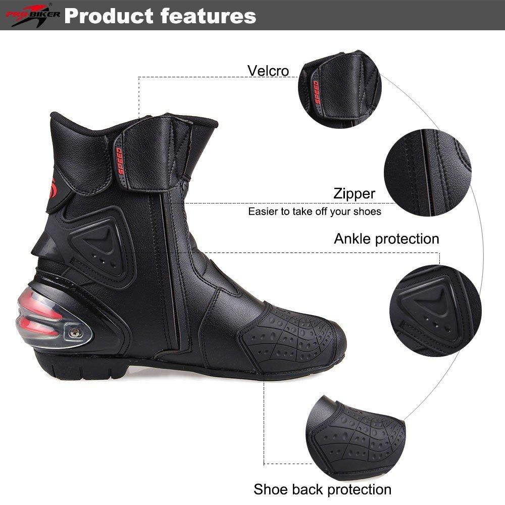 LKN Cheville /équipement de Protection Bottes de Moto Chaussures pour d/équitation Racing Rouge