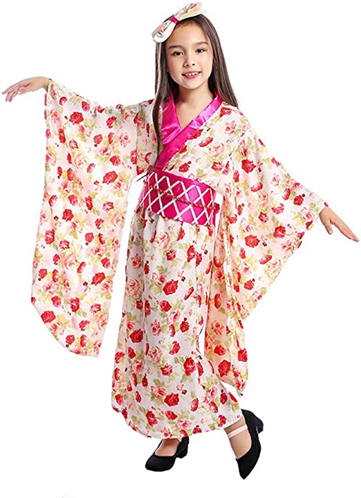 Geisha Japanese Kimono Costume Halloween Fancy Dress