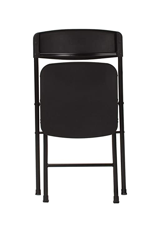 COSCO 37825BLK8E Resin Molded Seat and Back Black Folding Chair, 8 Pack,