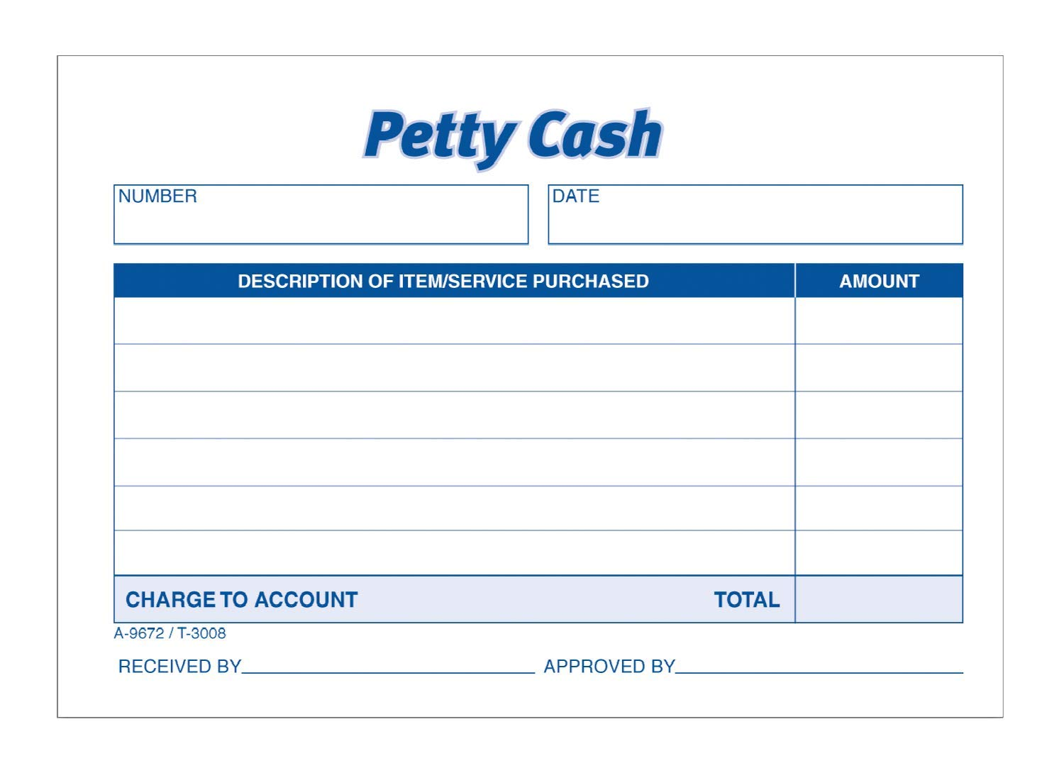 TOPS 3008 Received of Petty Cash Slips, 3 1/2 x 5, 50 per Pad (Pack of 12 Pads), Case of 16 by TOPS