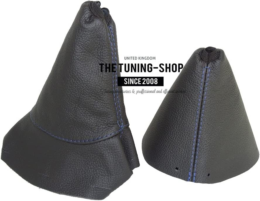 The Tuning-Shop Ltd Gear /& Handbrake Gaiter Leather Blue Stitching