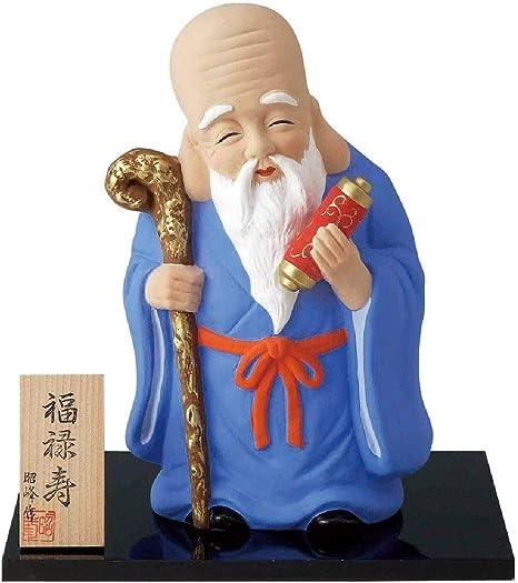 Amazon|縁起の置物 七福神 置物(特大) (福禄寿)|置物・オブジェ ...