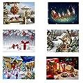 CDIY 5D Diamond Painting Kit, baskuwish Partial Diamond Cross Santa Claus Art Craft for Canvas Wall Decor