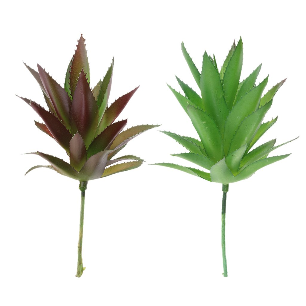 Dovewill-2-pieces-Lifelike-Artificial-Succulents-Plants-Agave-Cactus-Aloe-Flower