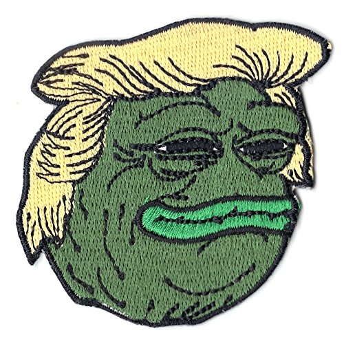 Presidential Patch - Presidential Pepe Frog Iron On Meme Emoji Iron On Embroidered Patch