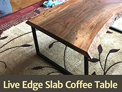 (How to Build a Live Edge Slab Coffee Table)