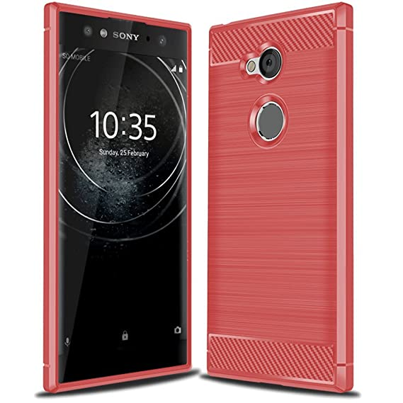 competitive price f2b82 e6ce3 Sony Xperia XA2 Ultra Case, Suensan TPU Shock Absorption Technology Raised  Bezels Protective Case Cover for Sony Xperia XA2 Ultra Phone (Red)