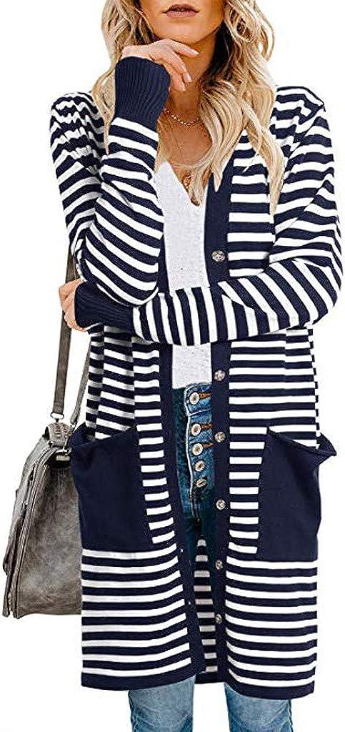 Fainosmny Women Long Camouflage Coat Cardigan Long Sleeve Outerwear Coat Jacket Work Dress Coats