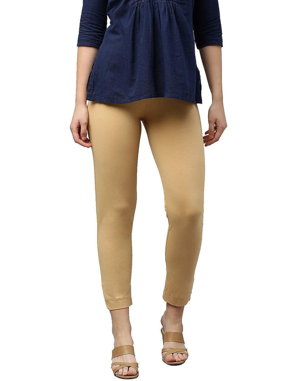 LUX LYRA Women's Straight Pant Slim (LYRA_KURTIPANT_1PC_Sand_Free Size)