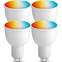 BrizLabs Smart Alexa lampen GU10, wifi-Alexa gloeilampen 4,5 W RGBW meerkleurig, intelligente lamp zonder hub vervanging…