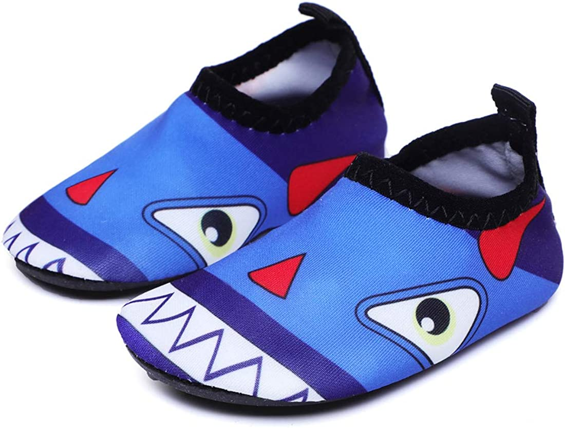 Athyior Water Shoes Baby Toddler Boys Girls Cute Water Swim Shoes Aqua Socks Quick Dry Barefoot for Beach Pool Shoes Lightweight