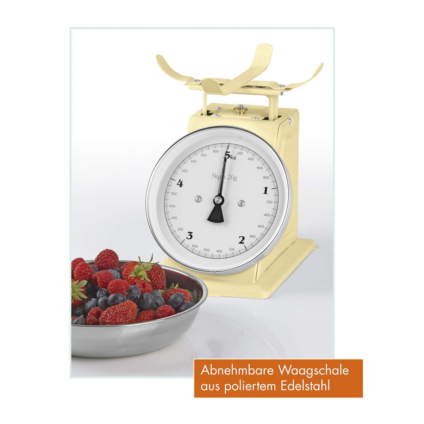 Gourmetmaxx Mint Bilancia da Cucina analogica Stile retr/ò Old School