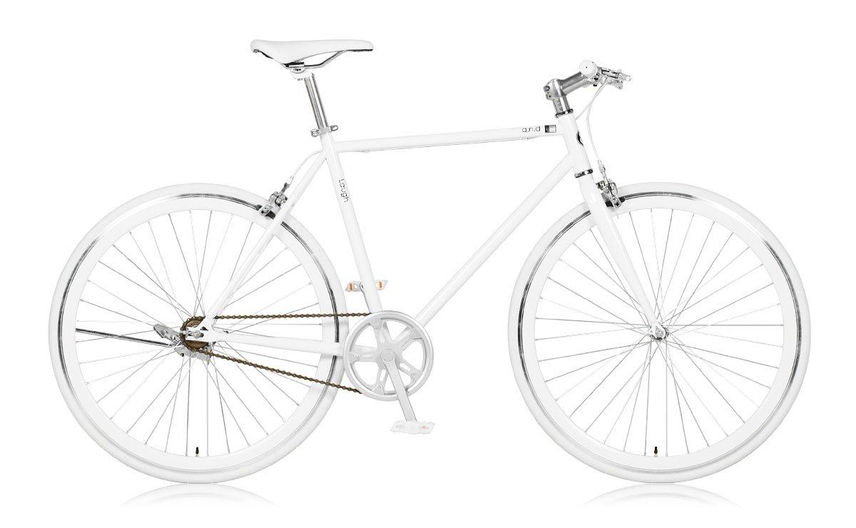 【a.n.design works】(エーエヌデザインワークス) Laugh530 ラフ メリーホワイト 700c 165cm~ B01NGYFNNV