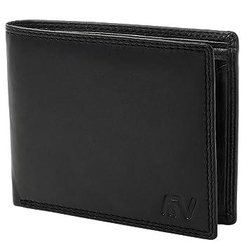 c5871387fb1fe Fa.Volmer Herren Ledergeldbörse aus echtem Leder mit RFID-Schutz ...