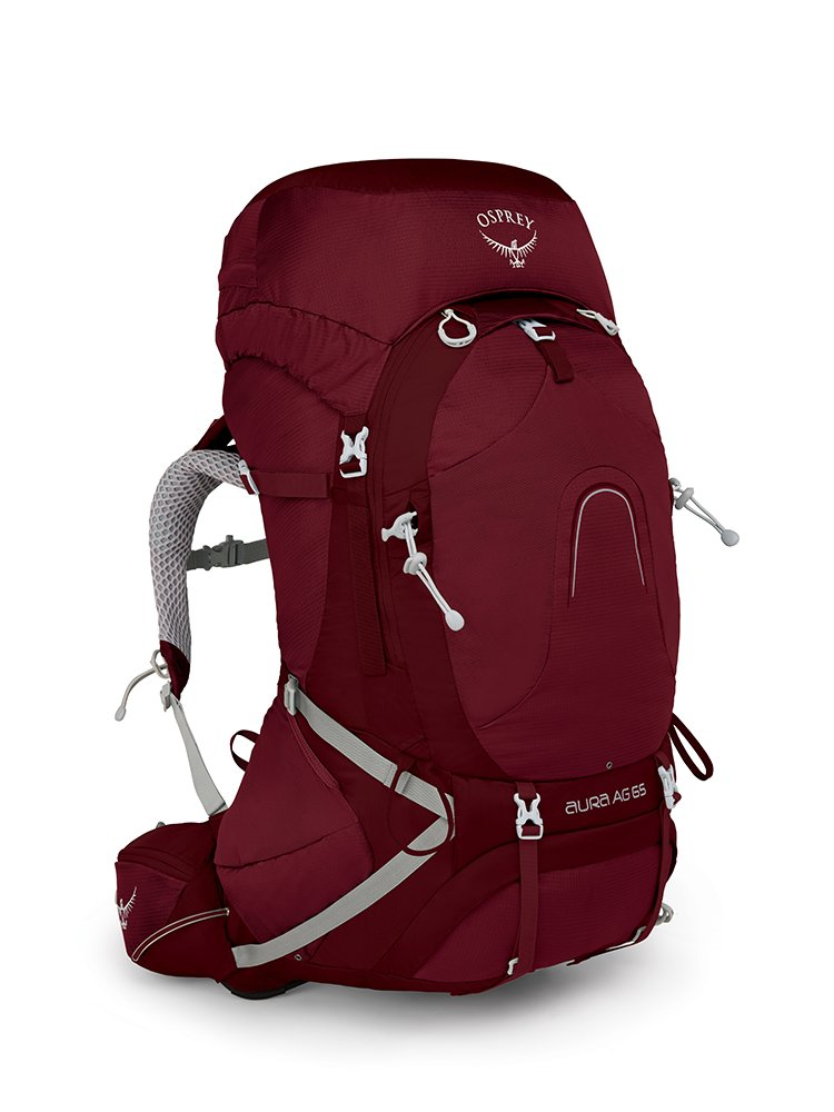 Osprey Packs Pack Aura Ag 65 Backpack, Gamma Red, X-Small