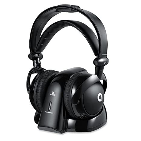 AudioMX Inalámbrico RF Auriculares Cerrados con 2.4 GHz Transmisor Digital Toma de Carga Conectores de Audio