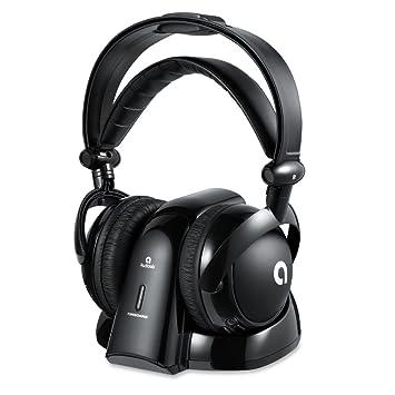 AudioMX Inalámbrico RF Auriculares Cerrados con 2.4 GHz Transmisor Digital Toma de Carga Conectores de Audio de 6.3 mm y 3.5 mm: Amazon.es: Electrónica