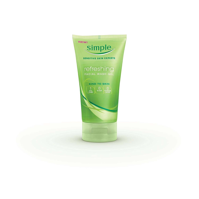 Simple Refreshing Facial Wash Gel, 5 Ounce