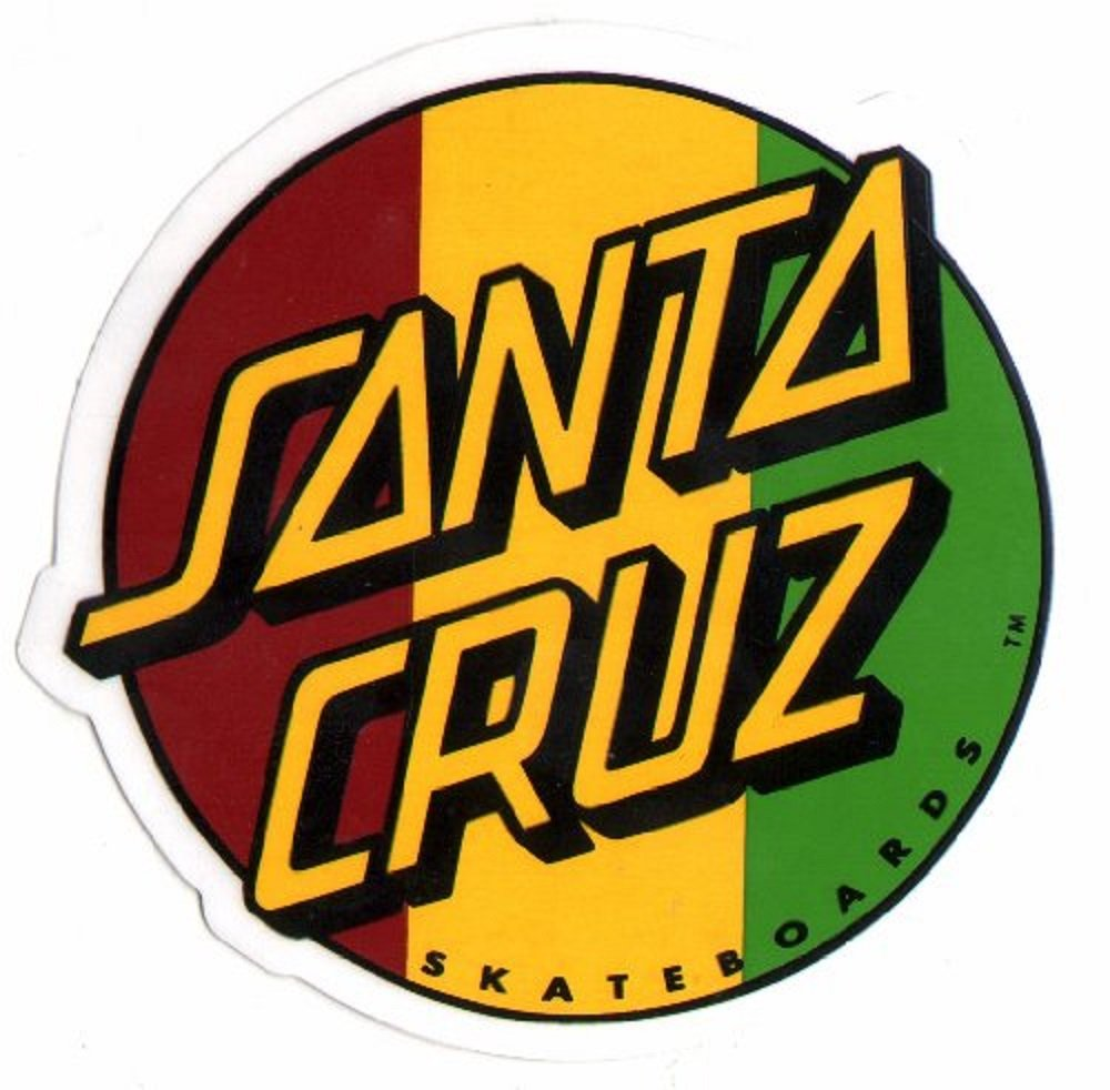Amazon com santa cruz rasta skateboard sticker skate board skating skateboarding sk8 new sports outdoors