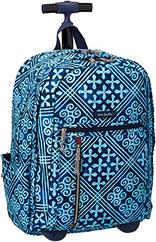 Vera Bradley Women s Rolling Backpack, Cuban Tiles   Smart Air Flights abbaffdfd4