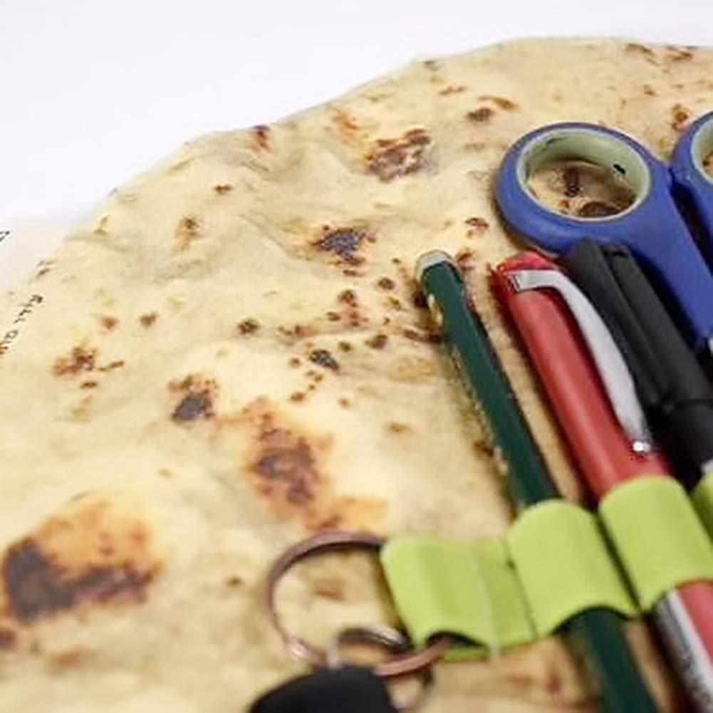 per pasticcini Astuccio creativo con semi di sesamo cancelleria Multi portapenne pancake Pink888