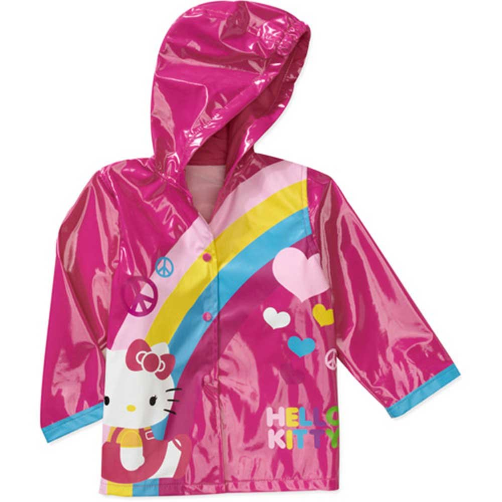Sanrio Hello Kitty Girl's Red Rain Coat - Size 4T