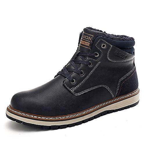 AFFINEST Warm Gefüttert Winterstiefel Herren Winterschuhe Wasserdicht Schneestiefel Snow Boots Outdoor Stiefel Baumwolle Schuhe