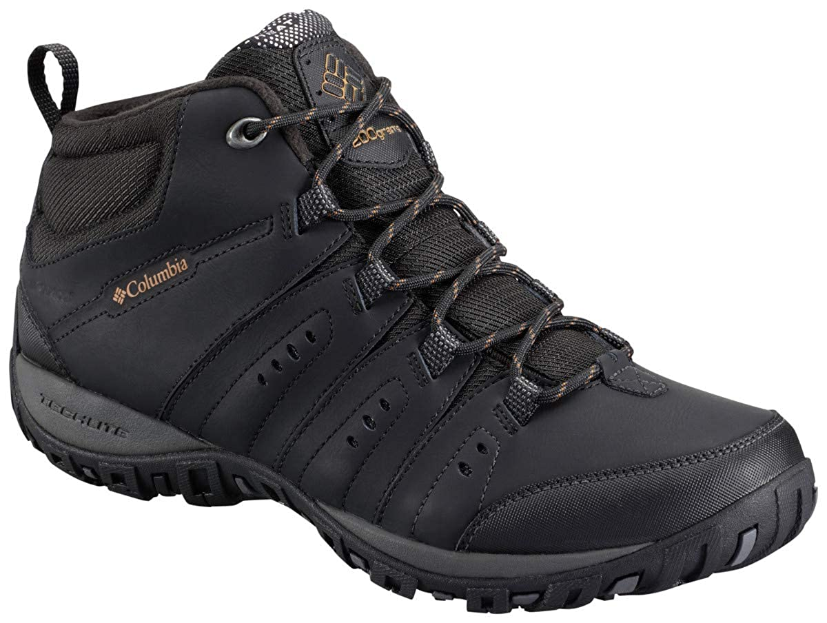 Noir (noir, oren Rod) Columbia Woodburn II Chukka WP Omni-Heat, Chaussures de Randonnée Hautes Homme 43.5 EU