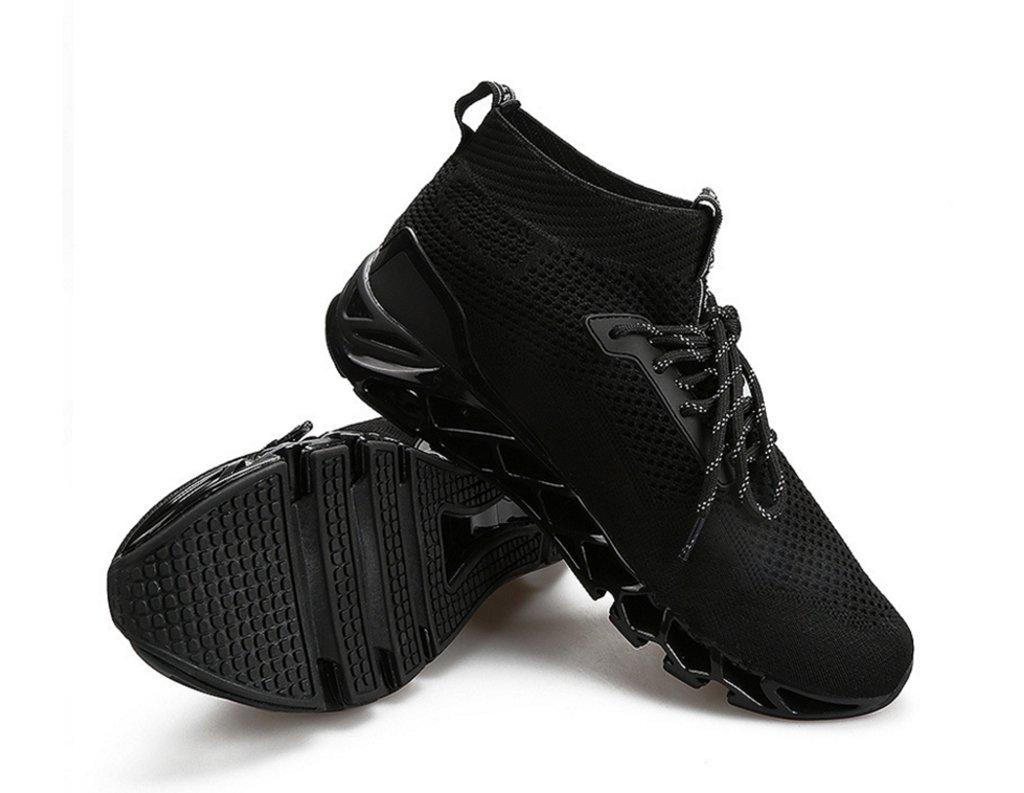 Hombres de punto zapatillas respirables 2018 Nuevos zapatos de correr al aire libre Zapatos de calcetines de moda ( Color : Black Red , tamaño : 44 ) 44|Black Red