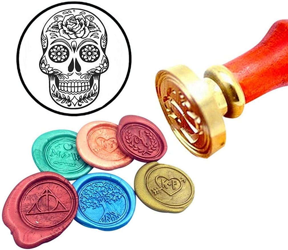 Skull Hand Wax Seal StampPersonalized Wax Seal Stampskeleton hand Wax Seal StampSkull sealing geek birthday gift