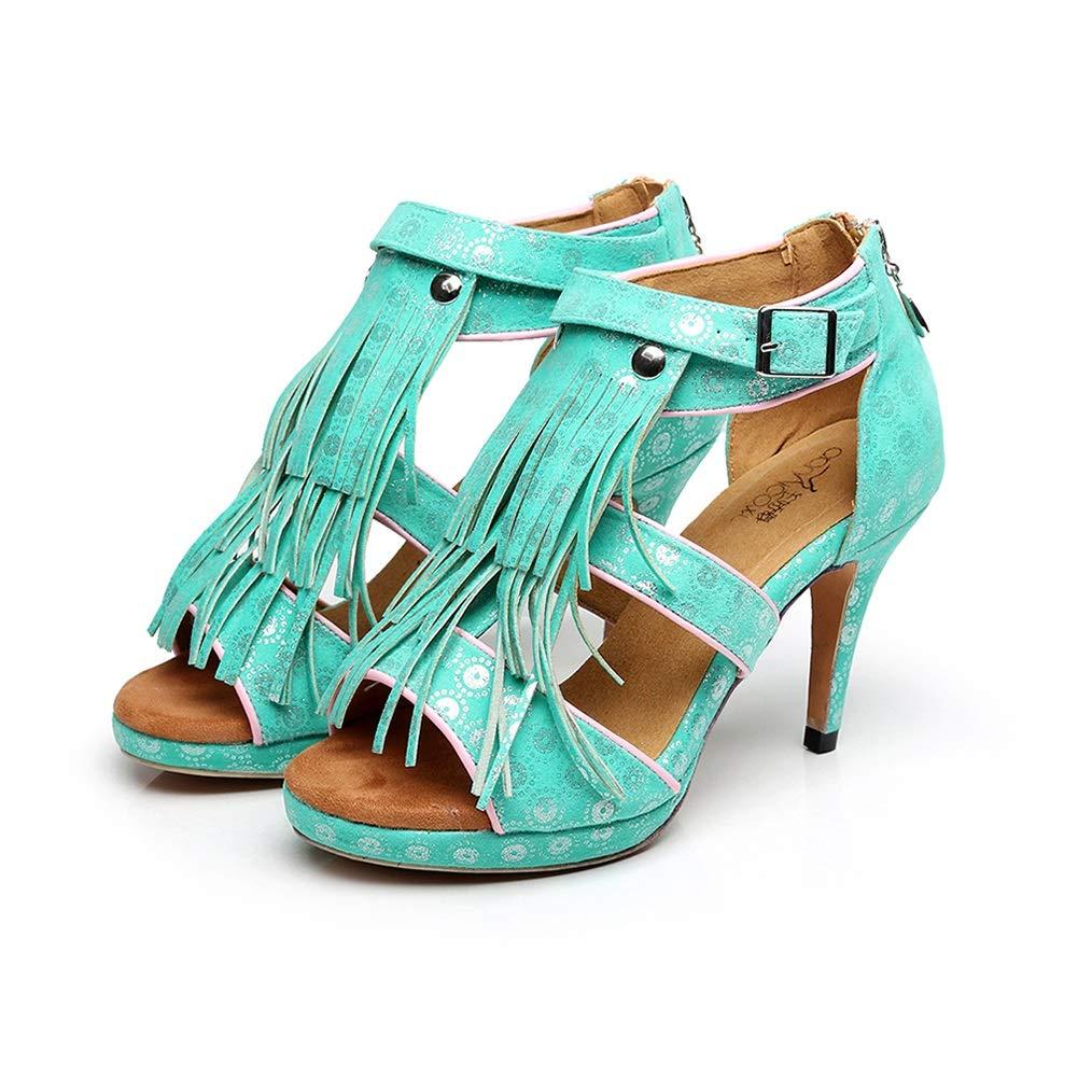 Vert Chaussures De Danse Latine Femme Chaussures Femme Chaussure Danse Femme Danse Chaussures Fille US9 EU40 UK7